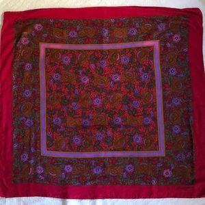 "Balenciaga Paris silk scarf 31""x33"""
